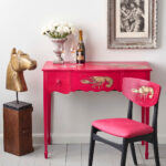 Hollywood-Regency-Capri-Pink-Lobster-Desk-1